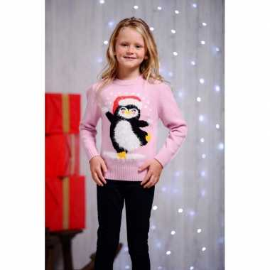 Lelijke kersttrui pinguin kids