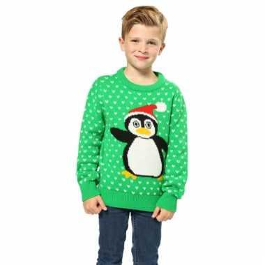 Lelijke kersttrui pinguin