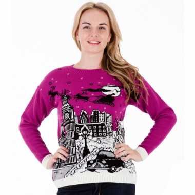 Lelijke kersttrui pink london dames