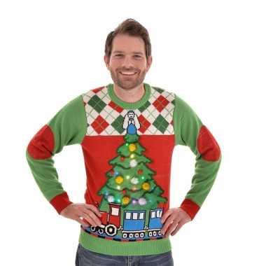 Lelijke Kersttrui.Lelijke Kersttrui Verlichting Tree And Train Lelijke Kersttrui Nl