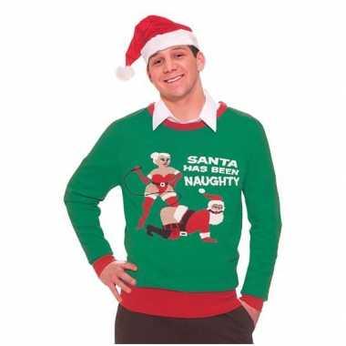 Lelijke Kersttrui Kopen.Lelijke Kersttruien Naughty Santa Lelijke Kersttrui Nl