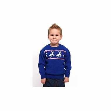 Lelijke kinder kerst polo blauw