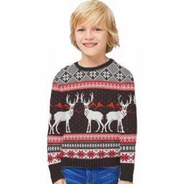 Lelijke kinder kersttrui happy reindeers