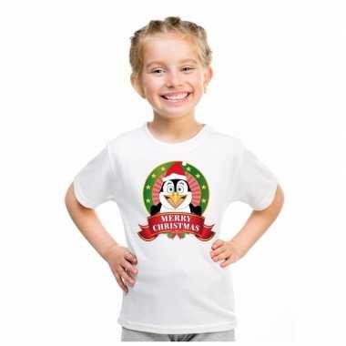 Pinguin kerstmis trui wit jongens meisjes