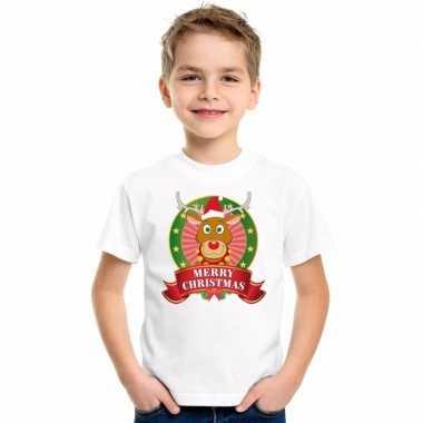 Rendier kerstmis trui wit jongens meisjes