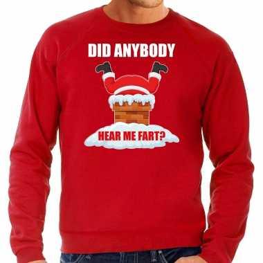 Rode kersttrui / kerstkleding did anybody hear my fart heren grote maten