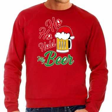 Rode kersttrui / kerstkleding ho ho hold my beer heren grote maten