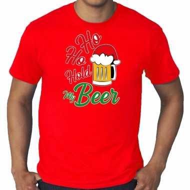 Rood kerstrui / kerstkleding ho ho hold my beer heren grote maten