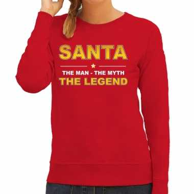 The man, the myth the legend santa sweater / kersttrui rood dames