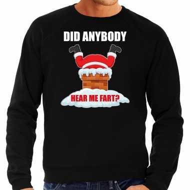 Zwarte kersttrui / kerstkleding did anybody hear my fart heren grote maten