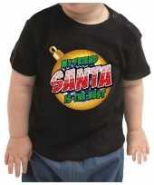 Baby kerstrui my friend santa is the best meisje jongen zwart