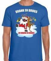 Blauw kerstrui kerstkleding drank drugs heren