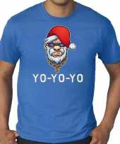 Blauw kerstrui kerstkleding gangster rapper santa heren grote maten