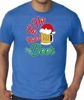 Blauw kerstrui kerstkleding ho ho hold my beer heren grote maten