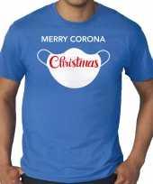 Blauw kerstrui kerstkleding merry corona christmas heren grote maten