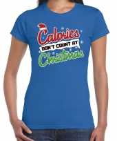 Blauw kersttrui kerstkleding calories dont count at christmas dames