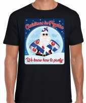Fout friesland kerstborrel trui christmas fryslan zwart heren