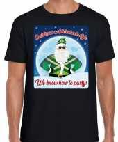 Fout kerstborrel trui christmas achterhoek style zwart heren