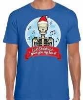 Fout kerstborrel trui fout kerst trui last christmas i gave you my heart blauw heren