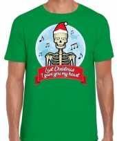 Fout kerstborrel trui fout kerst trui last christmas i gave you my heart groen heren