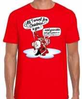 Fout kerstborrel trui fout kerst trui zingende kerstman gitaar rood heren