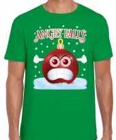 Fout kerstborrel trui kersttrui angry balls groen heren