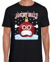 Fout kerstborrel trui kersttrui angry balls zwart heren