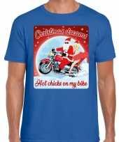 Fout kerstborrel trui kersttrui christmas dreams blauw motorrijders heren