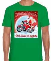 Fout kerstborrel trui kersttrui christmas dreams groen motorrijders heren