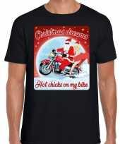 Fout kerstborrel trui kersttrui christmas dreams zwart motorrijders heren
