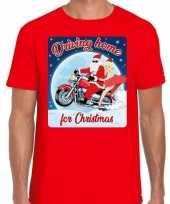 Fout kerstborrel trui kersttrui driving home for christmas rood motorrijders heren