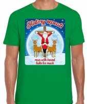 Fout kerstborrel trui kersttrui history repeats groen heren
