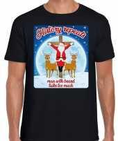Fout kerstborrel trui kersttrui history repeats zwart heren