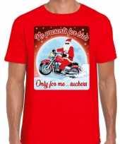 Fout kerstborrel trui kersttrui no presents for kids motorrijders rood heren