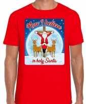 Fout kerstborrel trui kersttrui now i believe rood heren