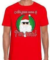 Fout kerstrui stoere kerstman i am real rood heren