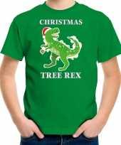 Groen kerstrui kerstkleding christmas tree rex kinderen