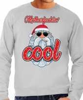 Grote maat lelijke kerstborrel trui kersttrui motherfucking cool stoere santa grijs heren
