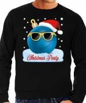 Lelijke kerstborrel sweater kersttrui christmas party zwart heren