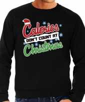 Lelijke kerstborrel trui kersttrui calories don t count at christmas zwart heren