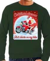 Lelijke kerstborrel trui kersttrui christmas dreams groen motorrijders heren