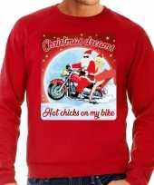 Lelijke kerstborrel trui kersttrui christmas dreams rood motorrijders heren
