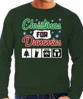 Lelijke kerstborrel trui kersttrui christmas for dummies groen heren