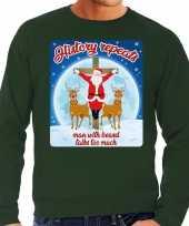 Lelijke kerstborrel trui kersttrui history repeats groen heren