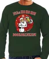 Lelijke kerstborrel trui kersttrui ho ho ho doordrinken biertje groen heren