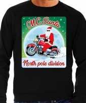 Lelijke kerstborrel trui kersttrui mc santa moterrijders zwart heren