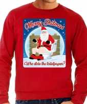 Lelijke kerstborrel trui kersttrui merry shitmas rood heren