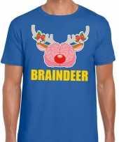 Lelijke kerstmis trui braindeer blauw heren