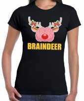 Lelijke kerstmis trui braindeer zwart dames