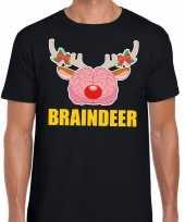 Lelijke kerstmis trui braindeer zwart heren
